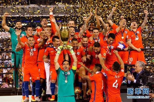 当日,2016年百年美洲杯决赛在美国新泽西举行,智利队与阿根廷队在120