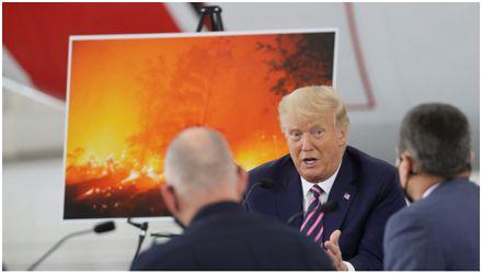 """气候变化加剧山火肆虐?特朗普有些""""不信"""":天气会转凉的"""