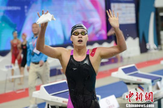 全国游泳冠军赛:傅园慧夺首冠孙杨收获第三金